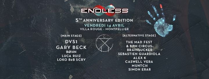 DAY 1 : Endless Project V – Villa Rouge w/ DVS1 & Gary Beck