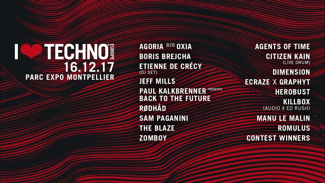 I Love Techno Europe 2017 : Qui aller voir ? + Timetable