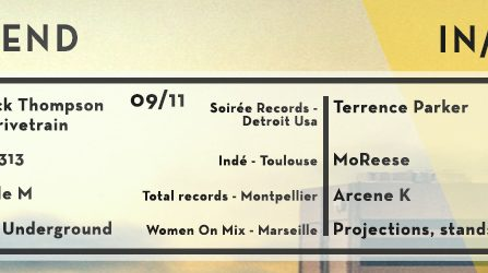 W/END Detroit IN Marseille : Derrick Thompson @ Le Chapiteau – la belle de mai - 09/11/2018